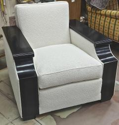 Jacques Adnet rarest documented comfy pair of club chairs fully restored - 2071549