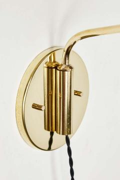 Jacques Biny Pair of 1950s Jacques Biny Brass Articulating Wall Lights - 1773551