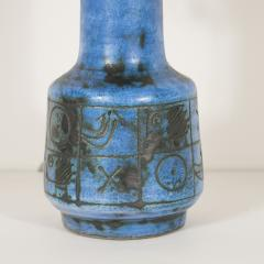 Jacques Blin Blue ceramic lamp with handle by Jacques Blin - 1375933