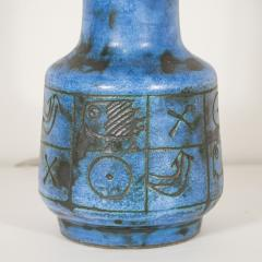 Jacques Blin Blue ceramic lamp with handle by Jacques Blin - 1375947