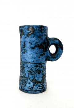 Jacques Blin JACQUES BLIN FRENCH CERAMIC ARTIST BLUE CERAMIC PITCHER C 1960 - 1038227