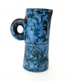 Jacques Blin JACQUES BLIN FRENCH CERAMIC ARTIST BLUE CERAMIC PITCHER C 1960 - 1038228