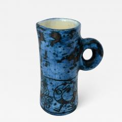 Jacques Blin JACQUES BLIN FRENCH CERAMIC ARTIST BLUE CERAMIC PITCHER C 1960 - 1039805