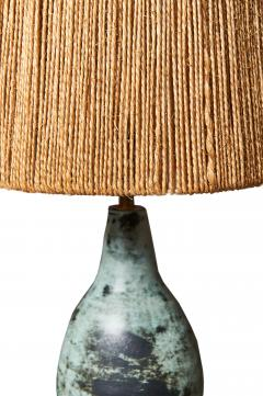 Jacques Blin Jacques Blin Ceramic Table Lamp with Rope Shade - 449101