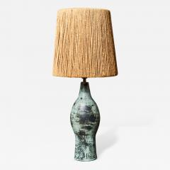 Jacques Blin Jacques Blin Ceramic Table Lamp with Rope Shade - 450341