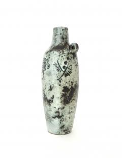 Jacques Blin Jacques Blin French Ceramic Artist Light Blue Bottle with Mini Handle Circa 1960 - 1038172