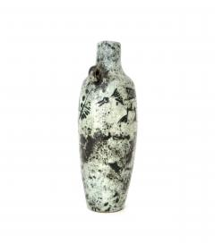 Jacques Blin Jacques Blin French Ceramic Artist Light Blue Bottle with Mini Handle Circa 1960 - 1038173