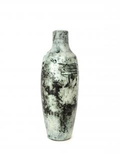 Jacques Blin Jacques Blin French Ceramic Artist Light Blue Bottle with Mini Handle Circa 1960 - 1038175