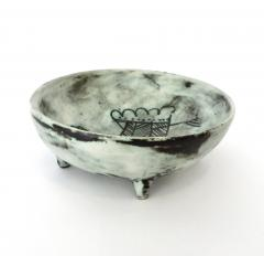 Jacques Blin Jacques Blin French Ceramic Artist Pale Blue Ceramic Footed Bowl 1960 - 1038203