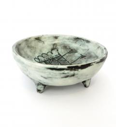 Jacques Blin Jacques Blin French Ceramic Artist Pale Blue Ceramic Footed Bowl 1960 - 1038205