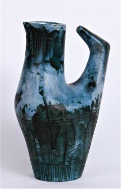 Jacques Blin Vase Oiseau Bleu - 502521