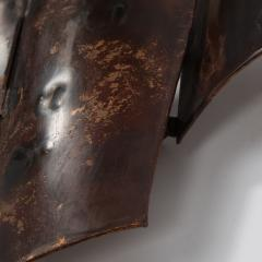 Jacques Couelle Illuminating Brutalist Wall Lamp in Folded Copper Leaf - 1688394