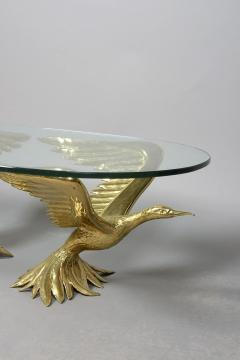 Jacques Duval Brasseur 1970s Designer Table by Jacques Duval Brasseur with Pair of Winged Birds - 976444
