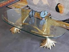 Jacques Duval Brasseur 1970s Designer Table by Jacques Duval Brasseur with Pair of Winged Birds - 976445