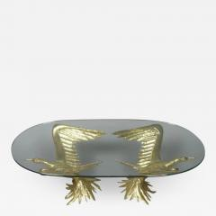 Jacques Duval Brasseur 1970s Designer Table by Jacques Duval Brasseur with Pair of Winged Birds - 976719