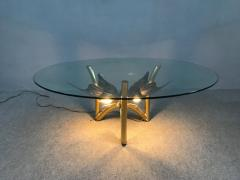 Jacques Duval Brasseur Brass Butterfly Coffee Table Attributed to Jacques Duval Brasseur - 1003719