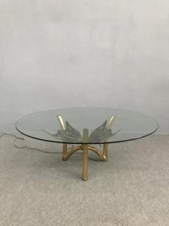Jacques Duval Brasseur Brass Butterfly Coffee Table Attributed to Jacques Duval Brasseur - 1003720