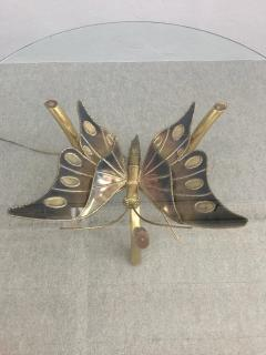 Jacques Duval Brasseur Brass Butterfly Coffee Table Attributed to Jacques Duval Brasseur - 1003721