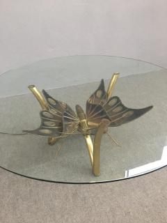 Jacques Duval Brasseur Brass Butterfly Coffee Table Attributed to Jacques Duval Brasseur - 1003722