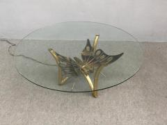 Jacques Duval Brasseur Brass Butterfly Coffee Table Attributed to Jacques Duval Brasseur - 1161509