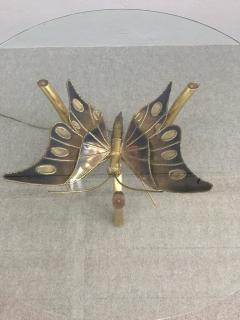 Jacques Duval Brasseur Brass Butterfly Coffee Table Attributed to Jacques Duval Brasseur - 1161513