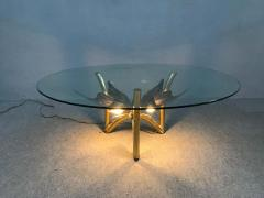 Jacques Duval Brasseur Brass Butterfly Coffee Table Attributed to Jacques Duval Brasseur - 1562151