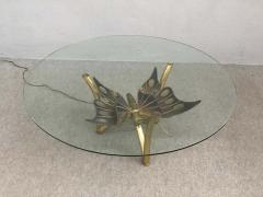 Jacques Duval Brasseur Brass Butterfly Coffee Table Attributed to Jacques Duval Brasseur - 1562153
