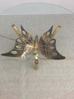 Jacques Duval Brasseur Brass Butterfly Coffee Table Attributed to Jacques Duval Brasseur - 1562155