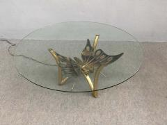 Jacques Duval Brasseur Brass Butterfly Coffee Table Attributed to Jacques Duval Brasseur - 1562157