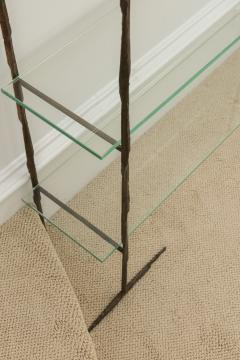 Jacques Duval Brasseur Bronze Etagere with Glass Shelves - 651150