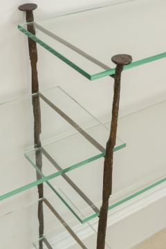 Jacques Duval Brasseur Bronze Etagere with Glass Shelves - 651151