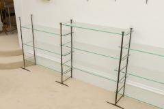 Jacques Duval Brasseur Bronze Etagere with Glass Shelves - 651152