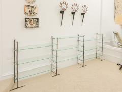 Jacques Duval Brasseur Bronze Etagere with Glass Shelves - 651153