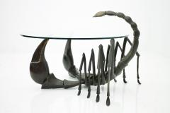 Jacques Duval Brasseur Bronze Scorpion Coffee Table Attributed to Jacques Duval Brasseur France 1970s - 730329