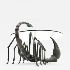 Jacques Duval Brasseur Bronze Scorpion Coffee Table Attributed to Jacques Duval Brasseur France 1970s - 731135