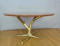 Jacques Duval Brasseur Important circular table by J Duval Brasseur 1980  - 736953