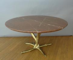 Jacques Duval Brasseur Important circular table by J Duval Brasseur 1980  - 736954