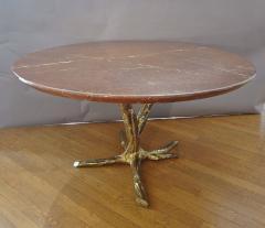 Jacques Duval Brasseur Important circular table by J Duval Brasseur 1980  - 736956