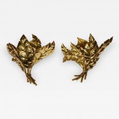 Jacques Duval Brasseur Pair of leaf sconces by Jacques Duval Brasseur - 727797