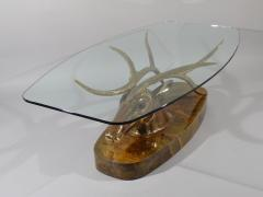 Jacques Duval Brasseur Very Rare Deer Coffee Table - 541277