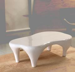 Jacques Jarrige Coffee Table in White Lacquer by Jacques Jarrige Toro  - 426342