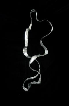 Jacques Jarrige Hanging Sculpture in hand hammered aluminum by Jacques Jarrige Waves  - 984539