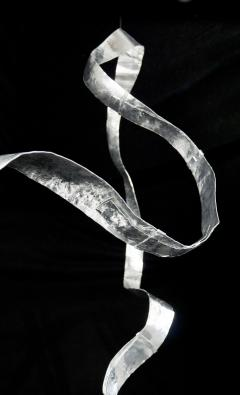 Jacques Jarrige Hanging Sculpture in hand hammered aluminum by Jacques Jarrige Waves  - 984540
