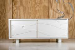 Jacques Jarrige Lacquered Sculpted Cabinet with Sliding Doors by Jacques Jarrige - 303533