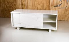 Jacques Jarrige Lacquered Sculpted Cabinet with Sliding Doors by Jacques Jarrige - 303536