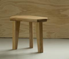 Jacques Jarrige Pair of SIDE TABLES in Oak by Jacques Jarrige Nazca  - 691384