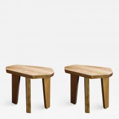 Jacques Jarrige Pair of SIDE TABLES in Oak by Jacques Jarrige Nazca  - 691644