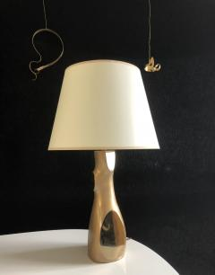 Jacques Jarrige Table Lamp Togo in Natural Bonze - 1512105