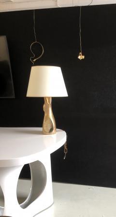 Jacques Jarrige Table Lamp Togo in Natural Bonze - 1512106