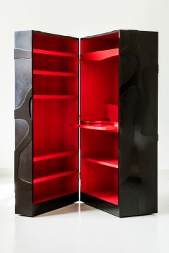 Jacques Jarrige Travelling Cabinet on Wheels with Shelves and Desk by Jacques Jarrige - 420369